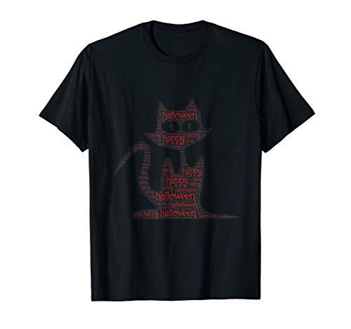 Happy Halloween Cute Funny Cat Animal TShirt Design Catz Top