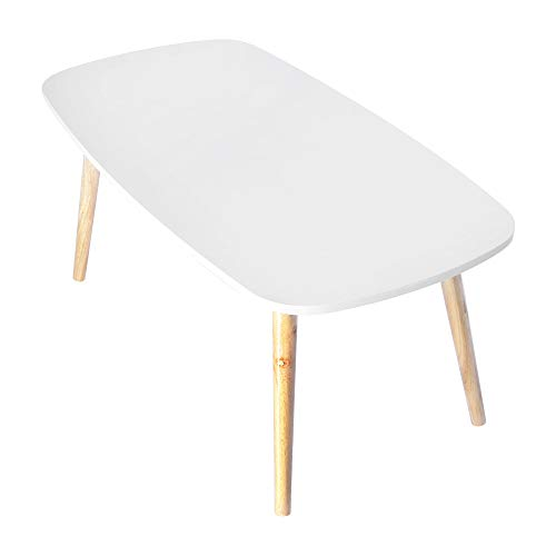 iHPH7 Nordic Minimalist Modern Small and Medium-Sized Coffee Table (100cm×50cm/39.37×19.68 Inch,White)