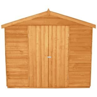 Bosque solapada 12 x 8FT doble puerta cobertizo y instalación: Amazon.es: Jardín