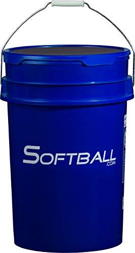 (Softball Softball.com Empty Bucket with Padded Lid Royal)