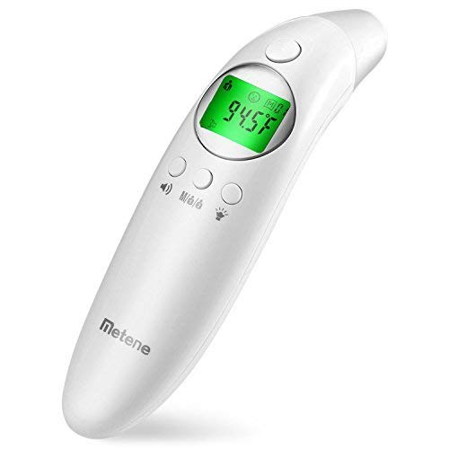 Metene Medical Forehead and Ear Thermometer for Fever, Non-Contact Digital Thermometer with Instant Reading and Improved Accuracy, for Baby, Kids and Adult