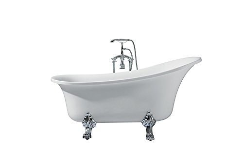 Laguna UB006-6327 Freestanding Acrylic Soaking Bathtub 63
