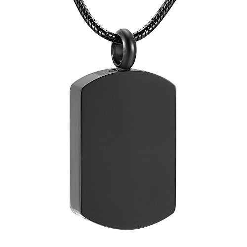 Solid Stainless Steel Blank Dog Tag Cremation Pendant Engravable Memorial Urn Ashes Keepsake Jewellery