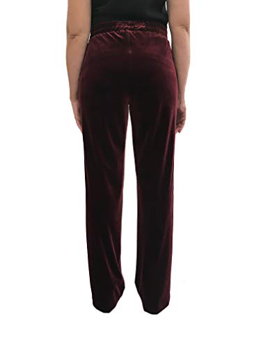 15284 Made Donna In Velluto Bordeaux Art Italy Ferroni Carla Pantalone YwqTzc6