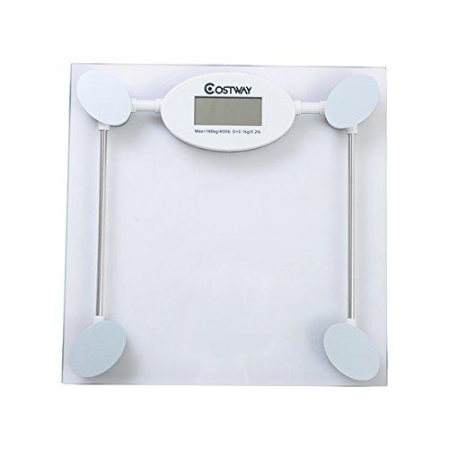 Costway Digital Glass Bathroom Scale, Silver