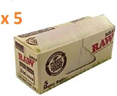 A Bawa Initiative RAW Organic Hemp Slim Rolls 5 Meters Roll Pack ...
