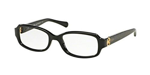 Michael Kors TABITHA V MK8016 Eyeglass Frames 3099-52 - Black/black Glitter