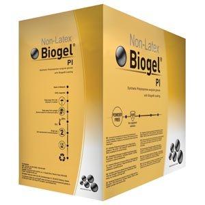 Molnlycke 40870 Biogel PI Sterile Powder Free Non-Latex Surgical Glove, Synthetic Polyisoprene, Straw, 7