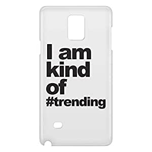 Loud Universe Galaxy Note 4 I Am Kind of Trending Print 3D Wrap Around Case - White/Black