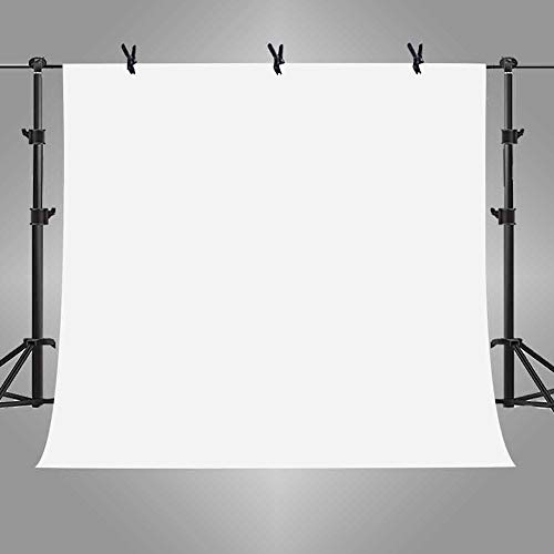 MME 10x10ft White Photo Video Photography Background Studio Non-Woven Fabric Backdrop Screen PURME006 (Tube Christmas You White)