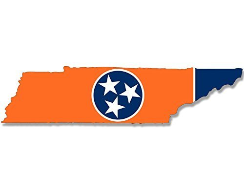 Football Shaped Car Flag - American Vinyl Volunteer Orange Tennessee Shaped Flag Sticker (tn State Tenn Football)