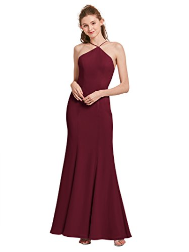 Gowns Mermaid Evening Womens Alicepub Dresses for Formal Burgundy Prom Bridesmaid 87nqZwg