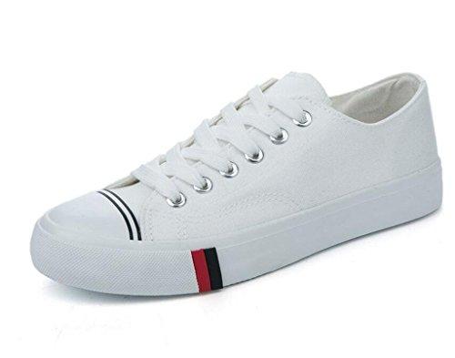 Confortevole White Shopping Dark Studenti Xie Colori Canvas Libero Shoes Scuola Flat Green Lady 36 36 Quattro Tempo Bottom Daily TS68PEqSn