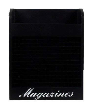 "Concepts Black Window Magazine Holder Wall 10""x13"""