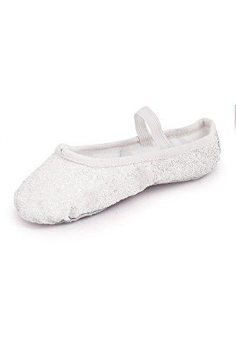 Fille de Bloch Classique Chaussures Blanc Sparkle Danse wgqW7OZ7Xf