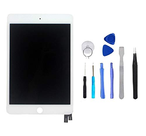 BESTeck LCD Replacement Screen Display Compatible for Apple iPad Mini 4 A1538 A1550 with Tools (White) by BESTeck