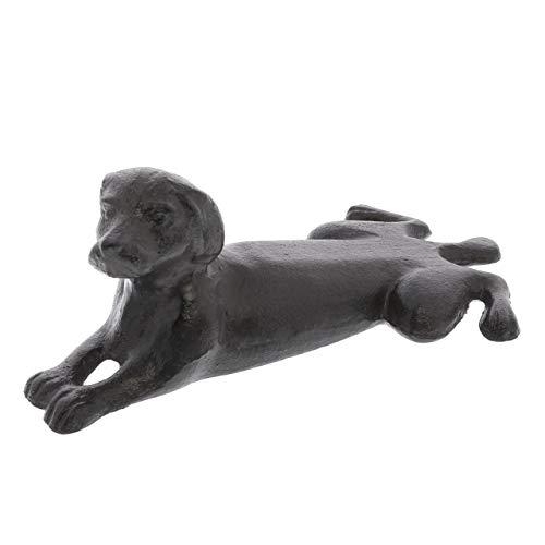 - My Swanky Home Luxe Cast Iron Labrador Retriever Door Wedge Set 2 | Dog Doorstop Heavy Holder