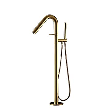 Jiayoujia Modern Solid Brass Freestanding Tub Faucet Floor Mounted