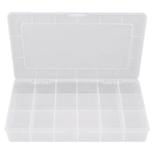 Plastic 18 Compartments Electronic Components Storage Box Case PB