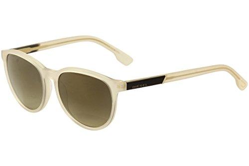 DIESEL Sunglasses DL0123 21G White / Brown Mirror - Sunglasses White Diesel