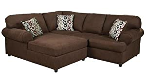 ashley jayceon 2piece sectional sofa with left arm facing chaise and right arm facing sofa in java