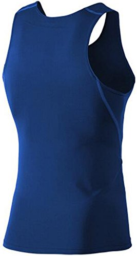 Findci Mens Smooth Comfortable Sports Sleeveless Shirt (XL, White)