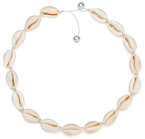 Nackiy Sea Shell Necklace Choker Summer Adjustable Natural Shell Collar Necklace