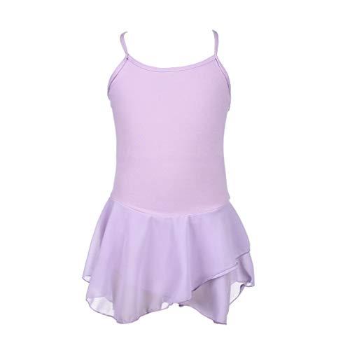 ZIZI Teen Girls' Cotton Ballet Easter Fairy Dance Costume Purple Leotard -