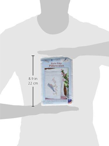 Jack Dempsey Bluebird Perle Edge Pillowcases 20 x 30 White