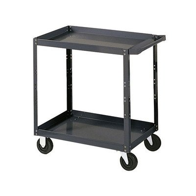 Edsal SC1801 Extra Heavy Duty Industrial Service Cart with Polypropylene Casters, 16 Gauge Steel, 1000 lbs Capacity, 36
