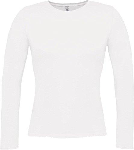 B&C - Camiseta de manga larga - para mujer blanco