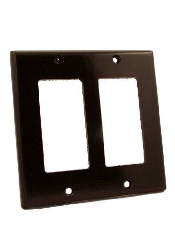 Leviton 80409 2-Gang Decora/GFCI Device Wallplate, Standard Size, Thermoset, Device Mount, (2 Gang Rocker)