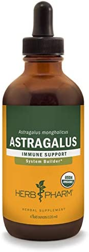 Herb Pharm Certified Organic Astragalus Liquid Extract for Immune System Support – 4 Fluid Ounce