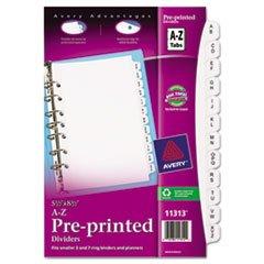 Avery - Small Preprinted Dividers, 5-1/2x8-1/2, A-Z, White