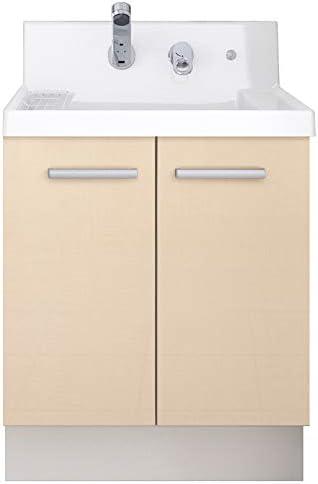 イナックス(INAX) 洗面化粧台 K1シリーズ 幅60cm 両開きタイプ シングルレバーシャワー水栓 K1N4-605SYN 寒冷地用 シカモアベージュ(YL2H)