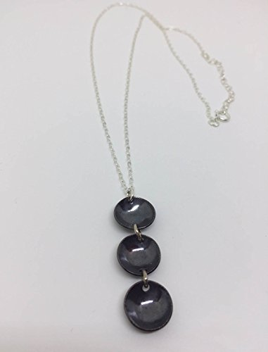 Drop Circle Pendant Triple (Triple Circle Drop Necklace - Adjustable length)