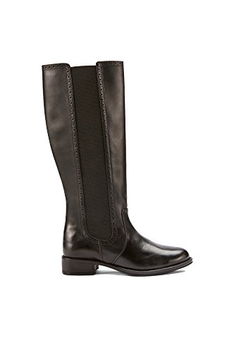 ELLOS / LA REDOUTE Ellos Womens Genuine Leather Knee High Black Riding Style Boots