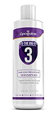 Lipogaine Hair Loss Prevention Premium Organic Shampoo, For Men & Women -Color Safe, With Biotin and Argan Oil