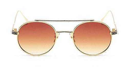 polarisées en cercle Lennon vintage métallique rond de de du retro style Thé lunettes Gradients inspirées soleil BSxqTg