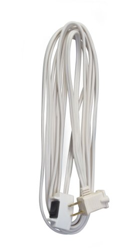 Coleman Cable 09345 16/2 SPT-2 Remote Control Extension Cord with Power Switch, 15-Foot, White]()