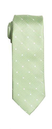 (SPREZZA Men's Polka Dot Tie Sage Classic 2.75 inch Slim Polyester)