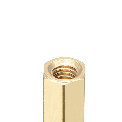 4pcs Brass Pillar PCB Straight Female Thread Hexagonal Separator Separator M3x5x14mm