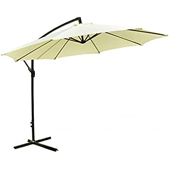 Patio Umbrella Offset 10u0027 Hanging Umbrella Outdoor Market Umbrella D10  (Beige)