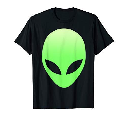 Alien Head T Shirt Cool green space aliens ufo life gift tee