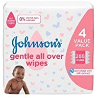 Johnson's gentle all over wipes - 72's x 4pcs(288 counts)