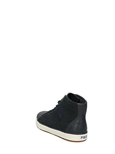 Polo Ralph Lauren scarpe sneakers alte uomo in camoscio nuove kelsey grigio