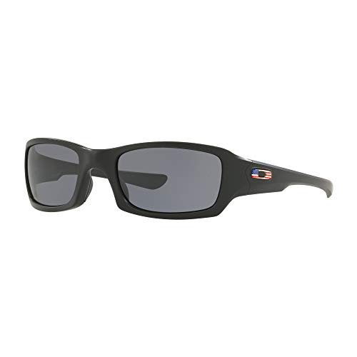 Oakley Fives Squared Si Sunglasses Matte Black / USA Flag / 009238-34 ()