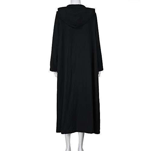 Casual Dress Manteau Longues Noir Magiyard Robe Capuche Long Veste Manches Femmes Loose Maxi qw6w4H