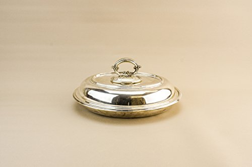 [Beautiful Antique Silver Plated Metal Serving DISH Scrolls Dinner Jenkins Timm Victorian Small Circa 1900 English LS] (Imperial Scroll Pasta Plate)