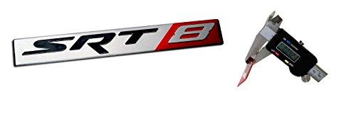 V6 To V8 Swap (SRT8 Street Racing Technology ALUMINUM Emblem Badge Nameplate Logo Decal Rare (NOT ABS PLASTIC) for Dodge Challenger Charger Magnum Chrysler 300C Jeep Grand Cherokee 6.4L Liter Chrysler V8 392 470HP)